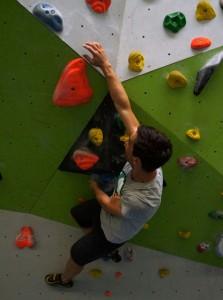 Boulderhalle mit Überhang