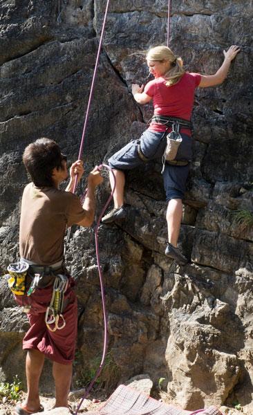 Kletterkurs für Anfänger in Thailand Klettern lernen