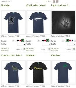 Boulder T-Shirts Kletter Shop