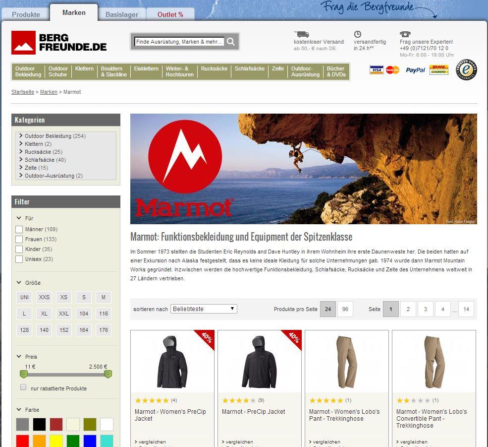 15% Gutschein Code Bergfreunde Marmot