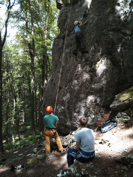 Klettern mit Kletterset