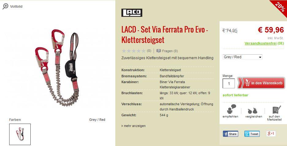 LACD Set Via Ferrata Pro Evo Klettersteigset