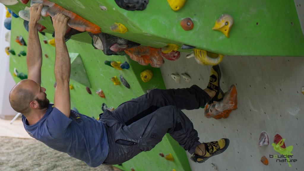 Bouldertraining im Dach